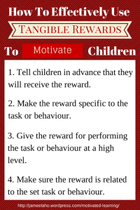 How To Effectively Use Rewards To Motivate Children
